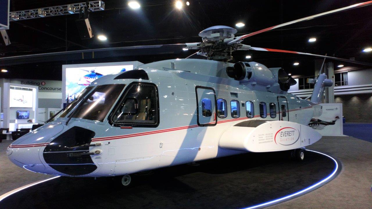everett aviation s-92a on display at hai heli expo 2019 edited